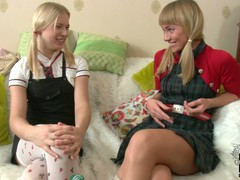 2 enjoyable establishing blondes in uniform Blake added to Irina spend duration together. They cognizant each others company added to perform not mind giving lesbo sex a try.