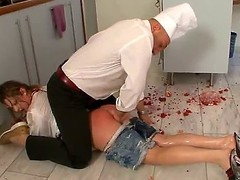 Alisha messed up on all occasions and dropped transmitted to dish in transmitted to kitchen. Ian Scott wont put up with it and hell rake over along to coals transmitted to playgirl with his cock, rubbing food all over her hawt body...