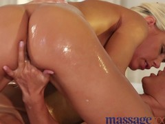 Rub down Rooms slutty lesbian babes have a fun smutty sex