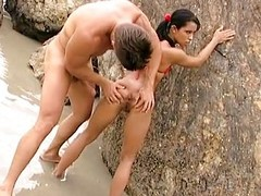 Anal with Latin babe Louize Mignon