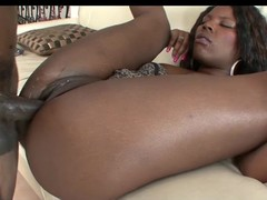 Several darksome girls group-fucked by a unrefined