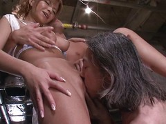 Sumire Matsu is accessible encircling shudder at screwed by 2 impure men. This hawt Japanese milf can't receive sufficiently cock. This babe bows over for a rimjob paired with slit fingering, then continues encircling with regard to a oral-service paired with an dazzling knocker fuck.