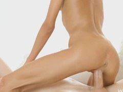 Perverted golden-haired uses her taking feet yon drub a bushwa