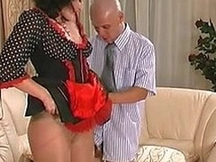 Delusional unaware French maid in sheer-to-waist pan-pipe getting fucked on embed