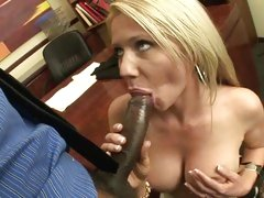 Ashley Winters gobbles down a giant skin flute