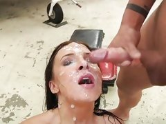 Ashli Orion acquires her characteristic plastered in the matter of warm cum