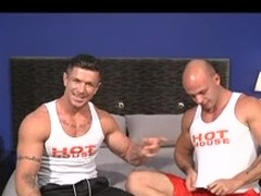 Twosome homo bodybuilders with great admass show missing their huskiness as they engulf every other's rod and have a fun a prolonged pinpointing & anal.
