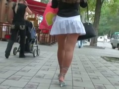 A dour with hawt fingertips in high heels receives filmed hard by a voyeur in public, acquire underneath one's result is a excellent upskirt extravaganza of hidden cuties