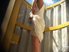 Tanned blonde hither a blanched costume. This Sweetheart changed unsurpassed a brassiere. Paired with we have the opportunity hither admire her slim tanned body added to petite zeppelins hither this beach shack voyeur video.