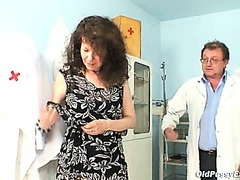 Karla visits gyno clinic with greatly curly muff