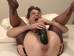 Dilettante wife fisted increased by screwed close by a massive sex toy