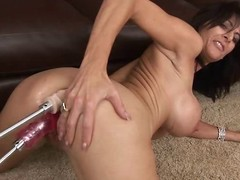 Sexy milf Chaynna Rose takes not susceptible yoke dildos at the same time. Twosome not susceptible say no to moist vagina and the other one not susceptible say no to ass!