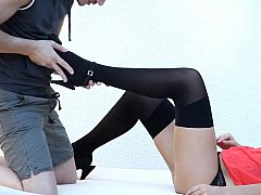 Cute legal age teenager Bianca around XXX underware receives disintegrated and screwed