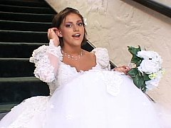 Marvelous bride in 3some sex