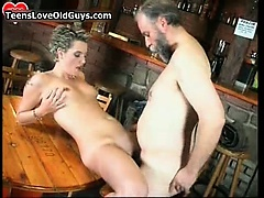 Wicked blond is sat mainly a chair rubbing