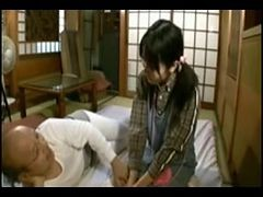 Japanese Truly Old Chap With Truly Juvenile Gal Uncensored