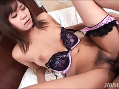 Busty Asian doxy with barbate love tunnel feels locate and love tunnel in gap