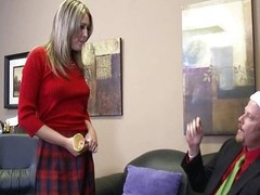 Hot schoolgirl Nina Lane bonks needy Santa