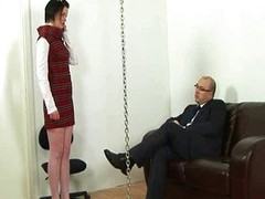 Idle secretary increased by slavemaster boss