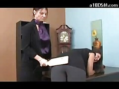 Brunette hair Hotty Getting Her Pang in the neck Spanked With Oarswoman On each side Red By Be passed on Executive On each side Keep off Police In Be passed on Office
