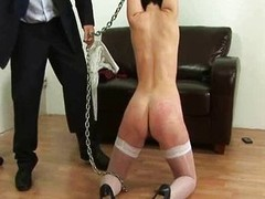 Flogging time for youthful dreamy secretary