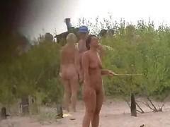 Stripped beach play