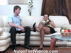 Gwendolen&Arthur lascivious nylon feet act