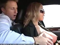 Breasty Limo Driver Gives Additional Services