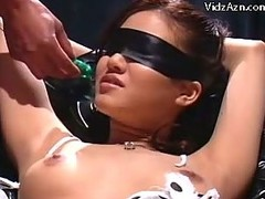 Blindfolded Angel In Servitude Squirting Whilst Getting Her Cum-hole Fingered