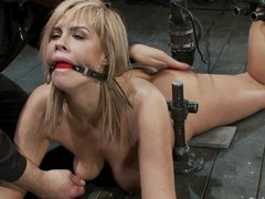 Glamorous blond Tara Lynn Foxx enjoys being tormented roughly a cellar