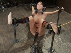 Skinny Alicia Stone acquires will not hear of milk shakes tortured and love tunnel toyed