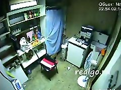 Hidden livecam captures this dilettante pair fucking in back room