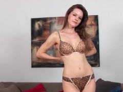 Lilian White is a true girl in striptease pic