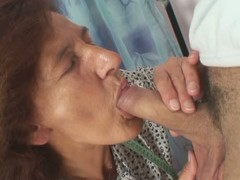 Redhead granny acquires group-fucked overwrought a youthful man