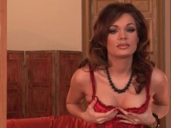 Glamour bitch goddess Kyla Fox in underthings