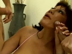 Ava devine acquires gangbanged from the one and the other ends