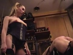 Mistress in Nylons Spanks Thongs and Canes